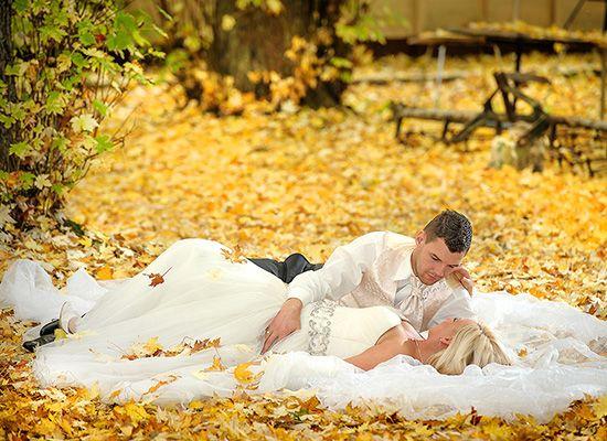Romantyczne zdjęcia plenerowe