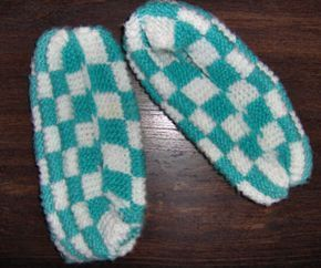 Checkerboard Slippers - brings back memories of Christmas gifts from grandma