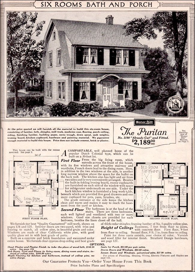 sears roebuck kit houses 1923 retronaut the puritan vintage house plans