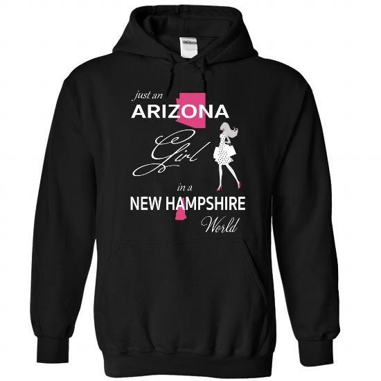 Awesome Tee ARIZONA GIRL IN NEW HAMPSHIRE WORLD Shirts & Tees