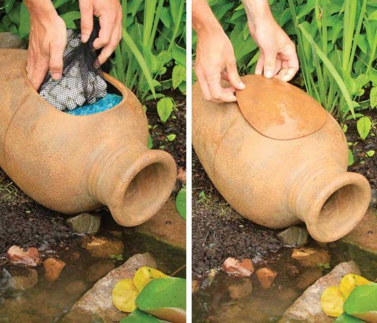 Aquascape Pond Filter Urn - Water Garden Decor - Outside Backyard Decoration - $129.50