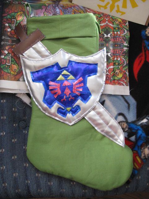 pretty clever video game stocking - Legend of Zelda