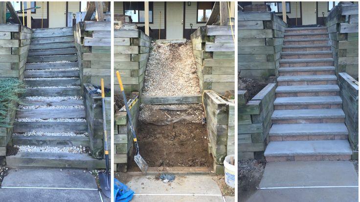 Best Repair Replace 6X6 Timber Steps Patio Garden 640 x 480