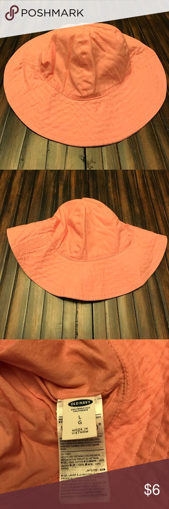 Old Navy Sun Hat Pink Sunhat. Worn once. Size large....my daughter wore when 2...and she has a big head!😂 Old Navy Accessories Hats