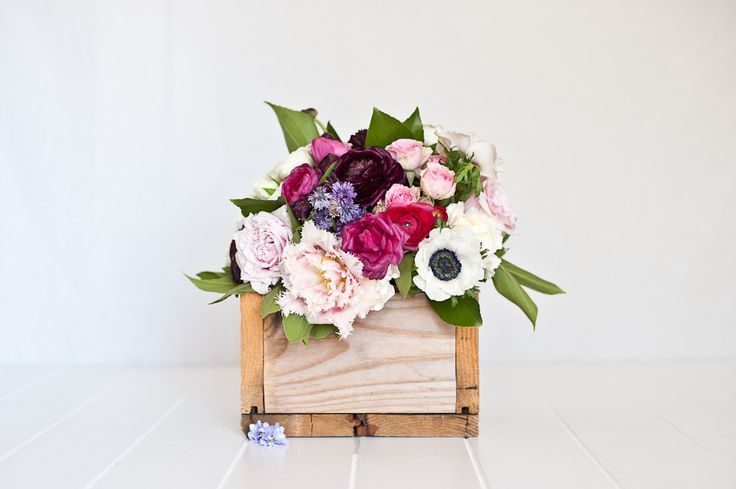 Recycled Wooden Box great for floral arrangements