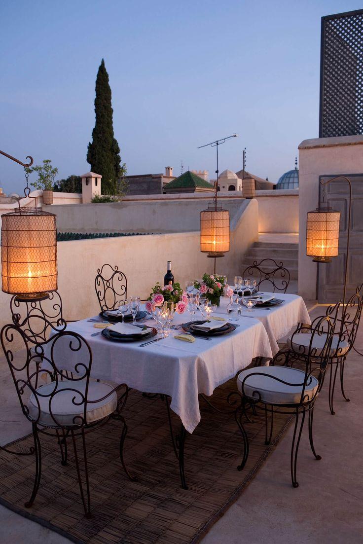 Enjoy a romantic rooftop meal at Riad de Tarabel