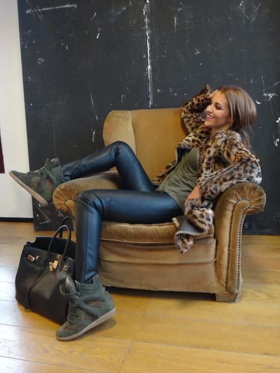 Black leather, leopard, army green