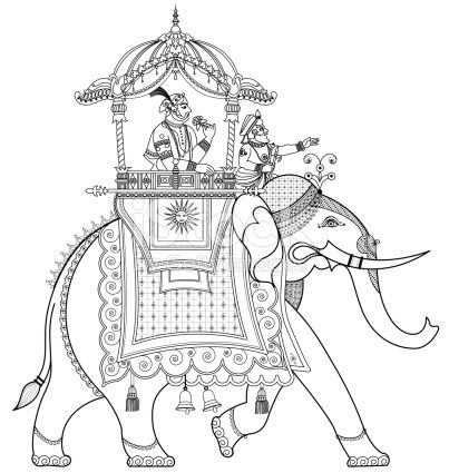 stock-illustration-11259291-decorated-indian-elephant.jpg (403×425)