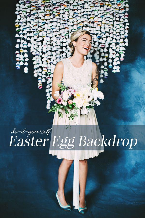 DIY Easter Egg Backdrop | Ruffled