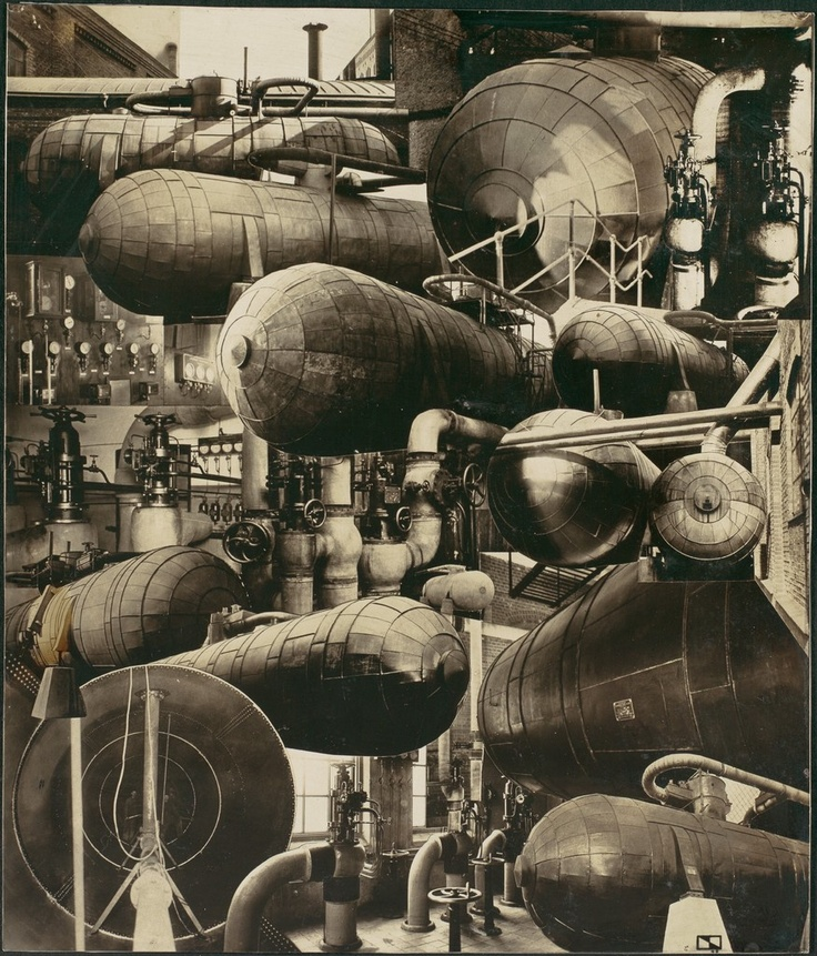Photomontage - Industrial Pipes and Boilers, César Domela (Dutch, 1900–1992) Date: 1928