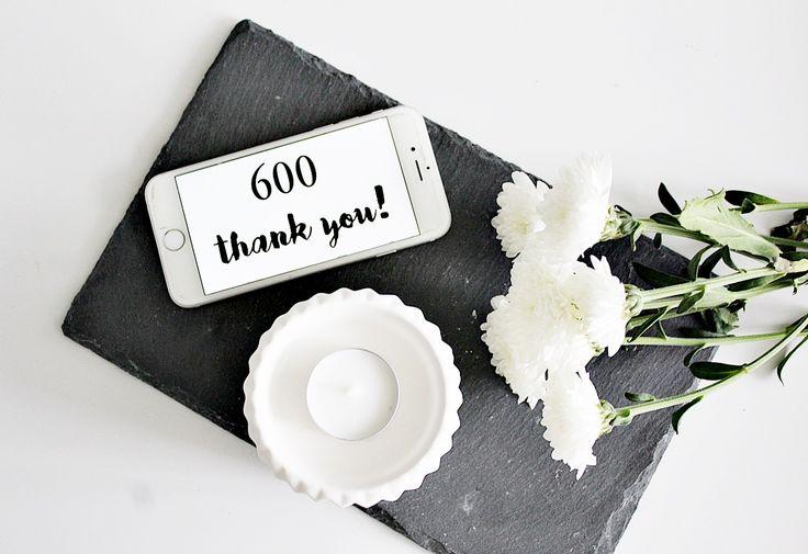 600 Instagram-seuraajaa, kiitos paljon!