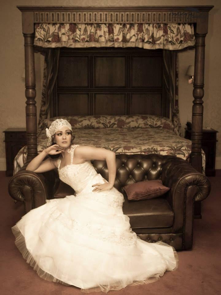 Art Deco Inspired Ivory Layered Dress