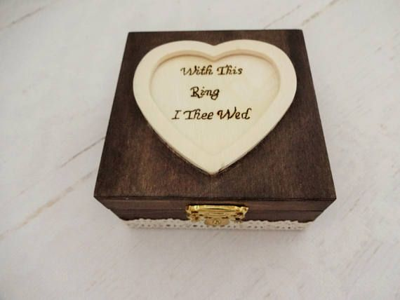 With This Ring I Thee Wed Wedding Ring Holder Rustic Ring