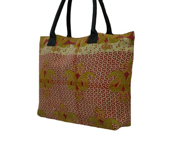Ethnic Women's Hand Bag Tribal Vintage Kantha by MyCraftPalace