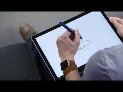 Aqui está um vídeo que nos demonstra a capacidade fantástica do Surface Pro e do iPad Pro no teste de desenho.