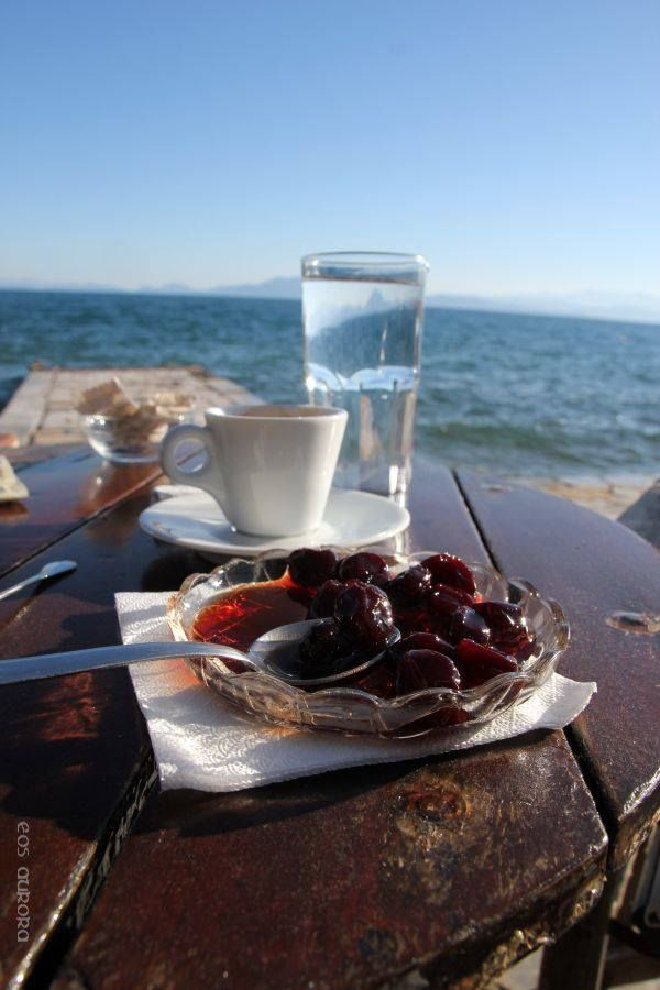 Γλυκό του κουταλιού. Greek traditional 'spoon sweets' or fruit preserves. Delicious!
