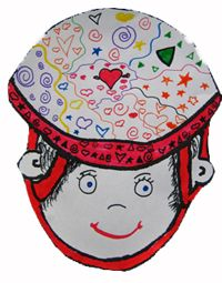Helmet Craft. Printable found on website. Kids can decorate