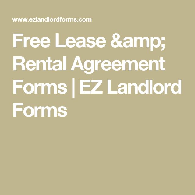 Free Lease & Rental Agreement Forms | EZ Landlord Forms