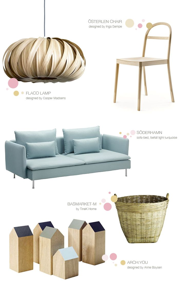 beautiful color and design of this sofabed [Nordic Light ♥ Северна Светлина | 79 Ideas]