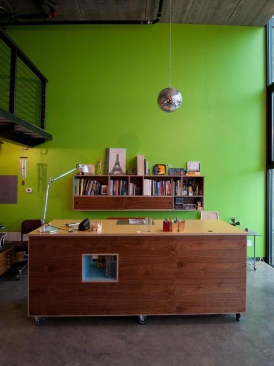 jh i admire the bright color note the passthrough in the desk very - Custom Desk Design