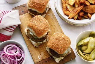 Lamb Burgers and Chunky Potato Wedges — Recipe from Leite's Culinaria