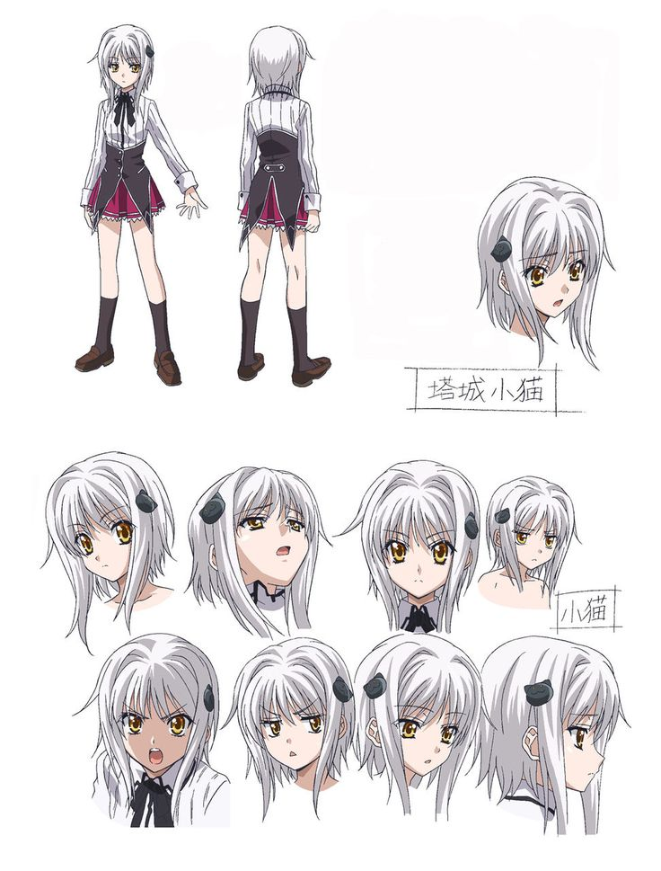 Character Design University : Anime character sheets sheet high schools and