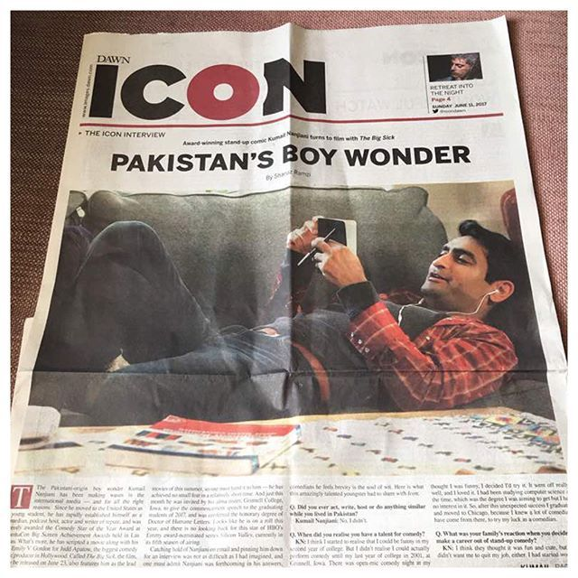 "by kumailn / : Dawn is the biggest/oldest English newspaper in Pakistan. My entire family reads it & has my whole life. Since I was a kid, I remember my family talking about Dawn articles. ""Did you read the editorial in Dawn about..."" If it was in Dawn, it was true. Today, they did a feature on #TheBigSick & gave it a glowing review. I know this sounds like bragging, but I'm feeling unexpectedly emotional about it. I'm hearing from family & friends I haven't heard from in years. It's the…"