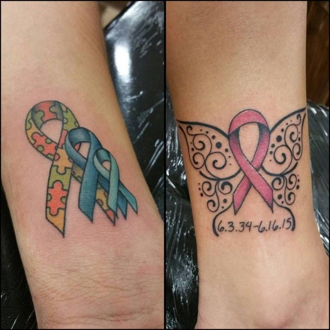 tattoo-journal | 40 Supportive Cancer Ribbon Tattoo Designs – Not just for fun | http://tattoo-journal.com