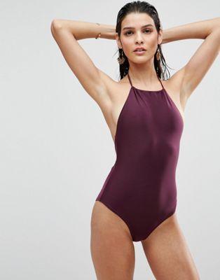 ASOS – Neckholder-Badeanzug