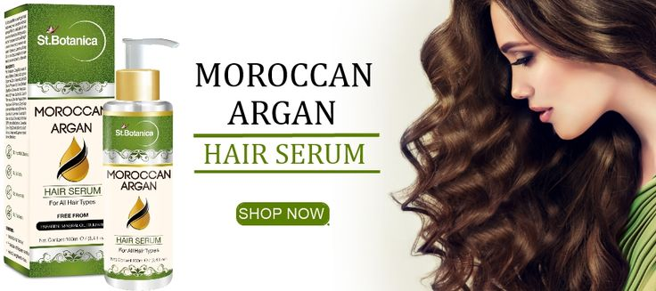 Get soft, glossy hair in seconds with this light, non-greasy serum. Buy St.Botanica Moroccan Argan Hair Serum For For All Hair Types & Beard Online.
