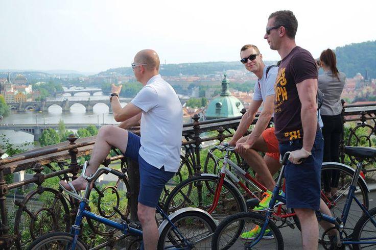 Vlatva River and Prague Bridges's panorama