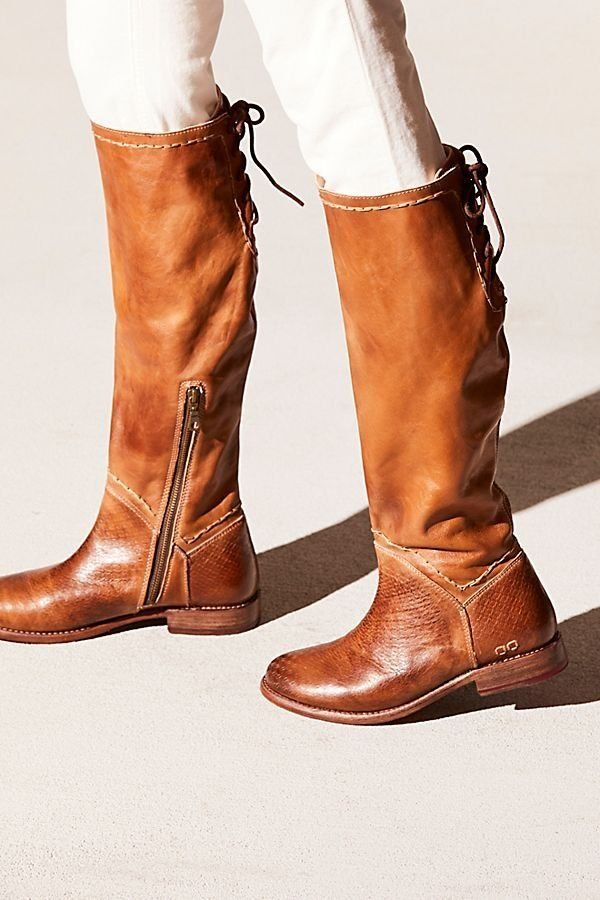 Chestnut Brown Knee High Leather Riding