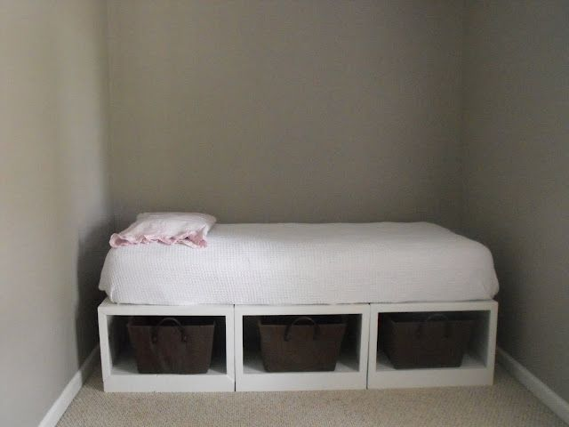 DIY Bed - just 3 boxes.  Awesome idea