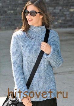 Вязаный пуловер женский реглан http://hitsovet.ru/vyazanyj-pulover-zhenskij-reglan/