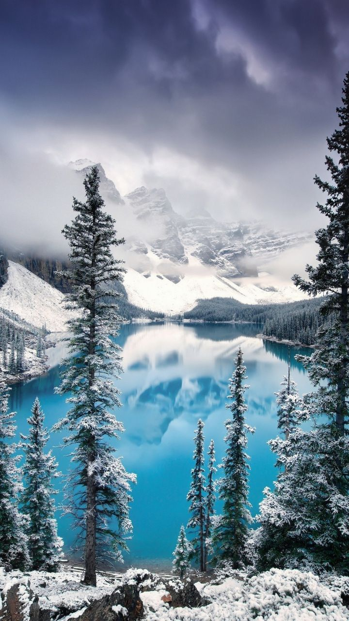 Mountains Lake Tree Forest Nature 720x1280 Wallpaper Nature Iphone Wallpaper Iphone Wallpaper Landscape Iphone Wallpaper Winter