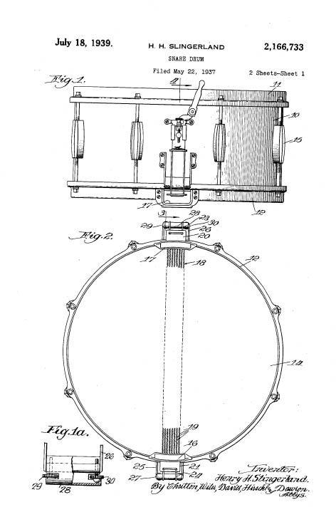 vintage diagram slingerland snare drum snare drum jpg  472 u00d7712