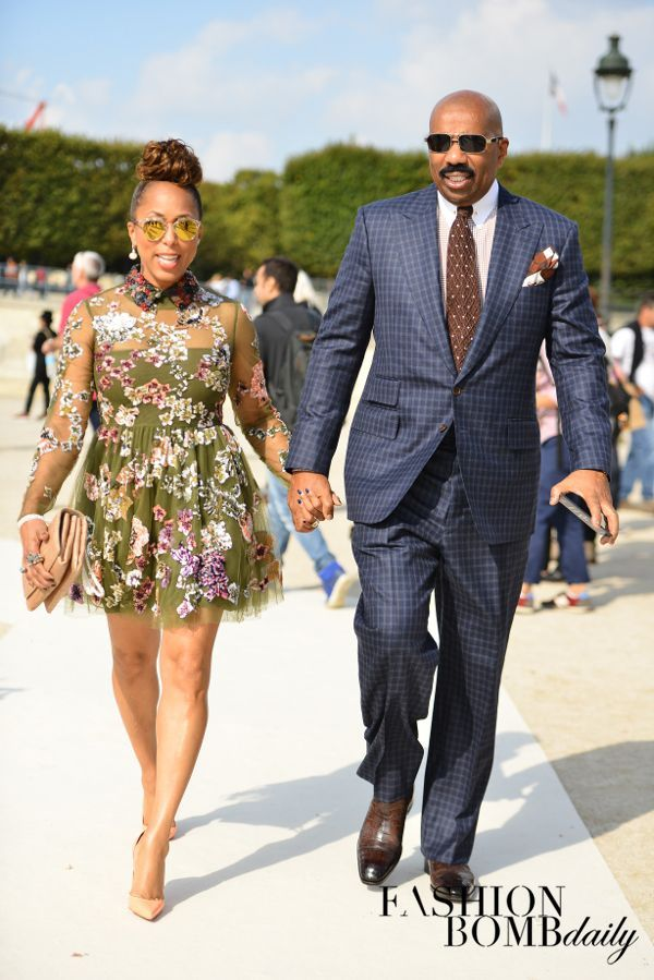 Hot! or Hmm…: Marjorie Harvey's Valentino Spring 2015 Show Valentino Fall 2014 Tulle Embroidered Dress and Christian Louboutin So Kate Pumps (via Bloglovin.com )