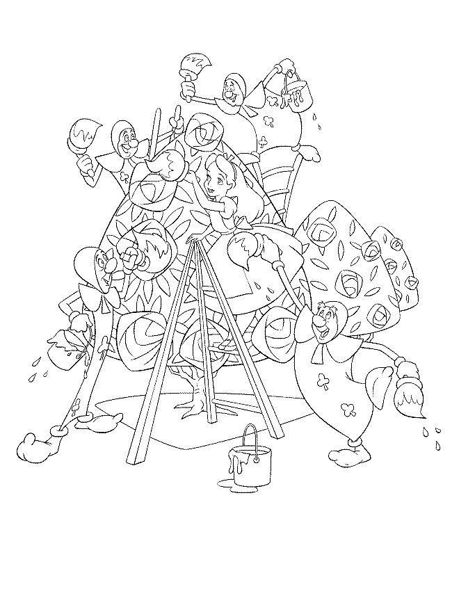 Alice i Eventyrland Tegninger til Farvelægning 4