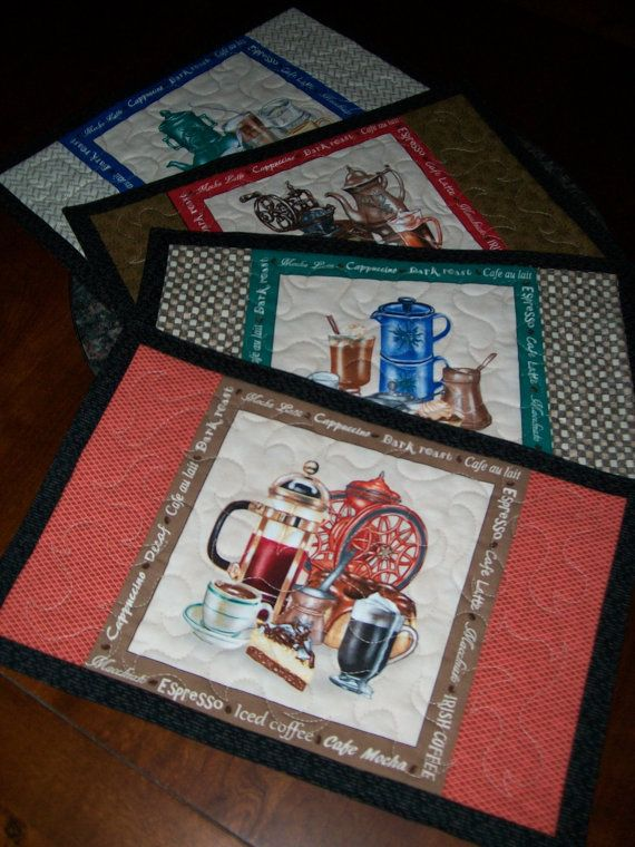 Coffee Reversible Placemat Mocha Latte Place By ExpressionQuilts, $18.00
