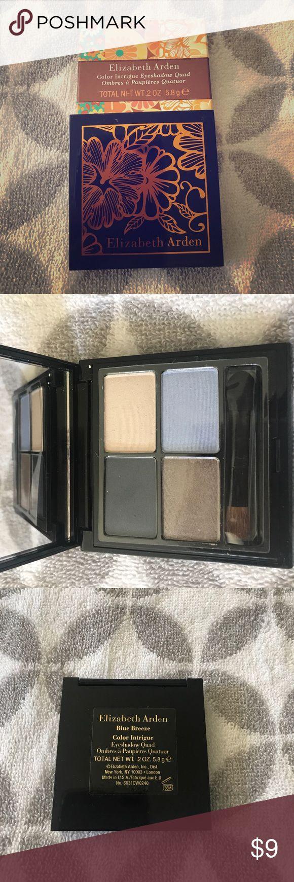 Elizabeth Arden color intrigue eyeshadow quad Brand new never been used !!!! Elizabeth Arden eyeshadow quad in blue breeze Elizabeth Arden Makeup Eyeshadow