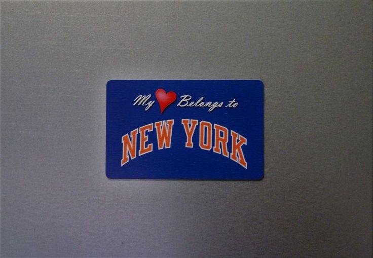My Heart Belongs To New York (Knicks) - Sports Team Magnets - NBA Fan Magnet  #NewYorkKnicks
