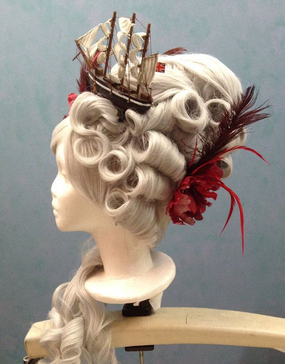 Silver Marie Antoinette Wig with ship by CyndiPiotrowskiWigs