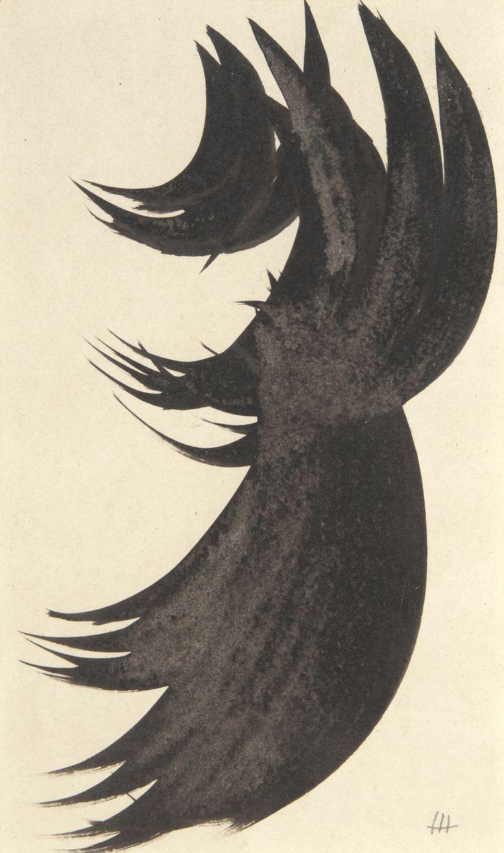 Hans Hartung(German/French,1904-1989) composition  1956 encre sur papier