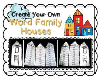 Use this cute template to create word family houses not for Bulletin board template word