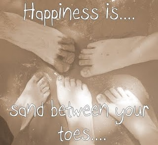 Happiness is sand between your toes