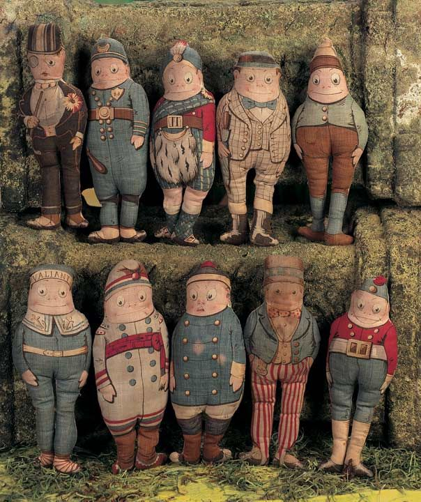 "Palmer Cox Brownie dolls produced by Arnold Print Works in the early 1890""s."