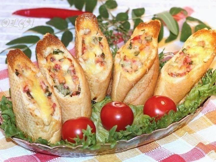 Фото к рецепту: Хлебные стаканчики из багета