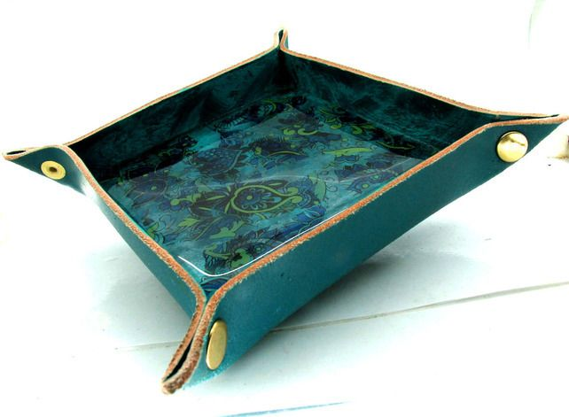Leather vallet tray or trinket tray £28.00