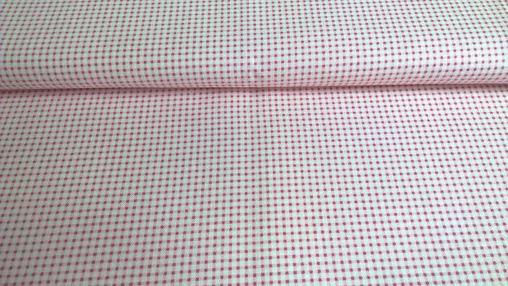 Stoff grafische Muster - Tilda Quilt Collection mini Gingham red - ein Designerstück von Stoffe-guenstig-kaufen bei DaWanda