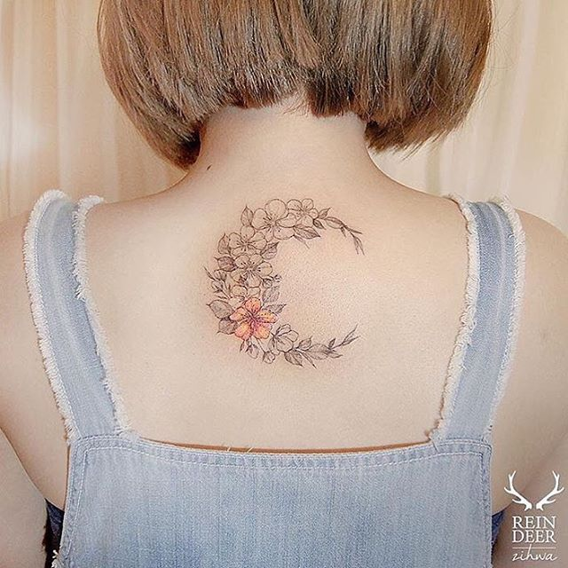 Moon Tattoo Design                                                                                                                                                     More